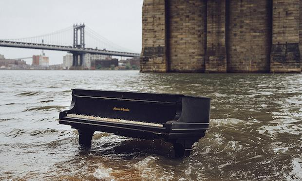 The East River Piano at High Tide