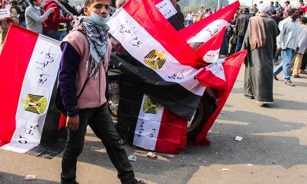 Thousands of protesters flocked to Cairo's Tahrir Square, Egypt, Nov 22, 2011. People were dead and injured because of tear gas, rubber bullets of riot police.