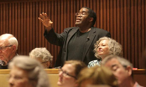 Bass-baritone Eric Owens gives a masterclass at Juilliard