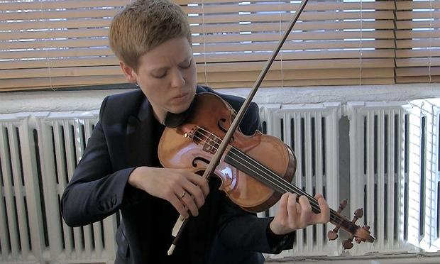Isabelle Faust performed Bach in the WQXR Cafe