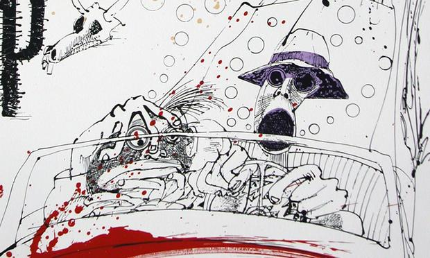 Original cover art for Fear and Loathing in Las Vegas by Hunter S. Thompson