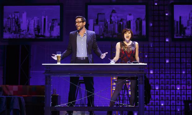 Zachary Levi and Krysta Rodriguez in 'First Date' at the Longacre Theatre.