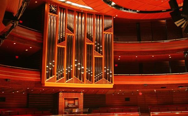The Fred J. Cooper Memorial Organ, Dobson organ Op. 76, ranks as the largest concert hall organ in the United States.