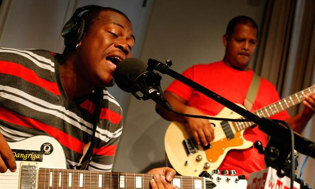 The Garifuna Collective performs in the Soundcheck studio.