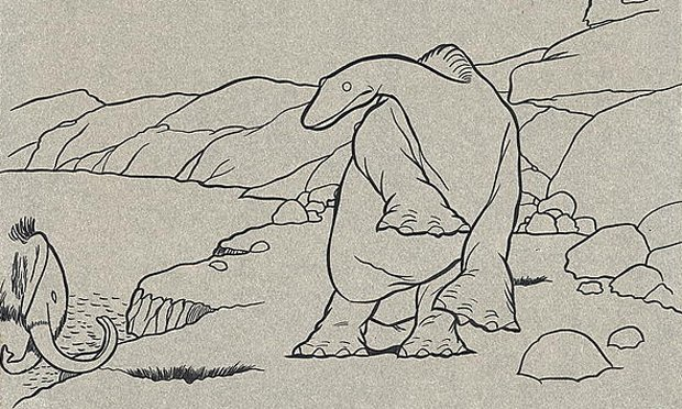 A cel from Winsor McCay's 1914 animated film 'Gertie the Dinosaur'