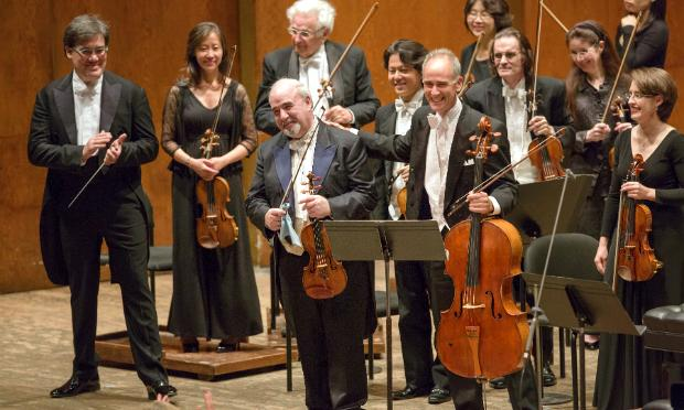 Outgoing concertmaster Glenn Dicterow is honored at Avery Fisher Hall