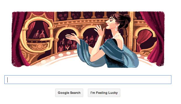Google Doodle for Maria Callas