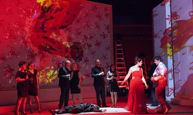 Cast of 'The Abduction of Europa' at Gotham Chamber Opera