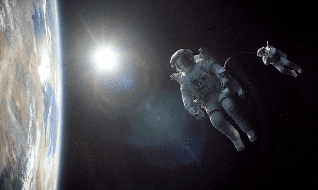 George Clooney and Sandra Bullock in Alfonso Cuarón's 'Gravity'