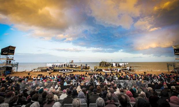 'Peter Grimes' on The Beach at the Aldeburgh Festival on June 17, 2013