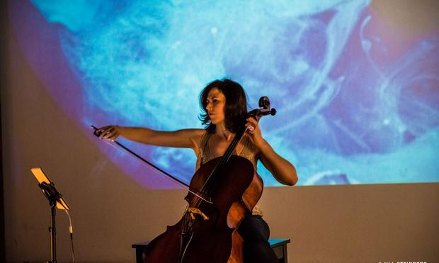 Cellist Inbal Segev at Pioneer Works for 2015 Ferus Festival