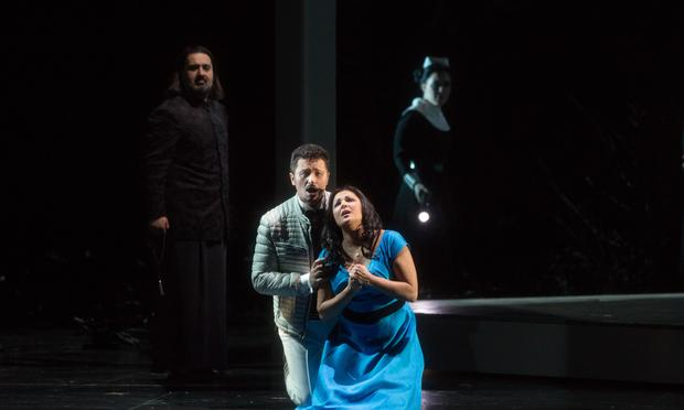 Piotr Beczala as Vaudémont and Anna Netrebko as the title character in Tchaikovsky's Iolanta