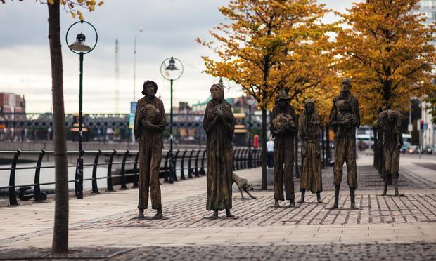Irish Famine Memorial in Dublin, Ireland