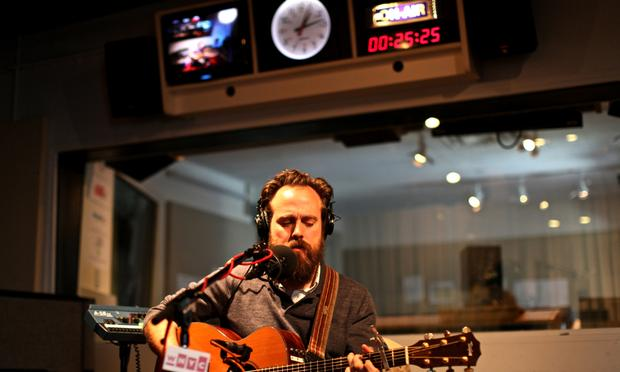 Sam Beam of Iron & Wine performs in the Soundcheck studio.
