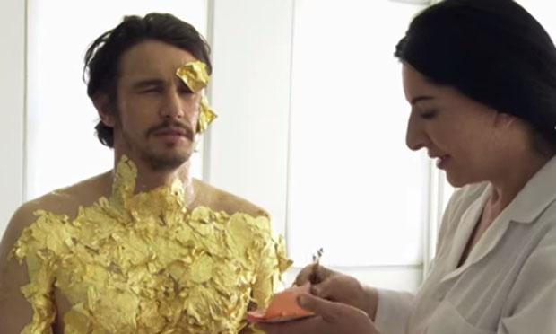 Screenshot of James Franco and Marina Abramović in Iconoclasts