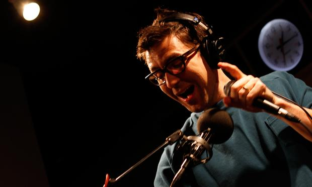 Jamie Lidell performs in the Soundcheck studio.