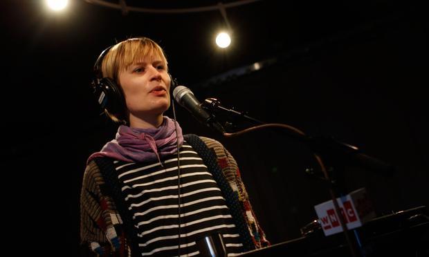 Jenny Hval performs in the Soundcheck studio.