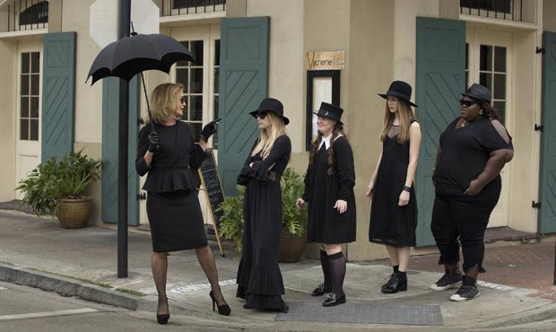 Jessica Lange (far left) in a scene from American Horror Story