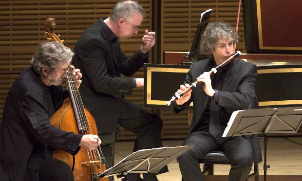 Jordi Savall and members of Le Concert des Nations at Zankel Hall