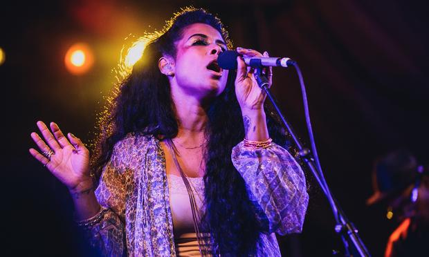 Kelis performs at the NPR Music Showcase at Stubb's during SXSW 2014.