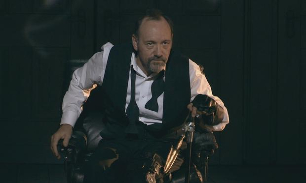 Kevin Spacey in the opening scene of Richard III during a performance in Epidaurus, Greece