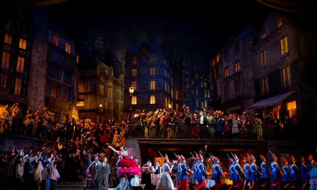 A scene from Act II of 'La Bohème.'