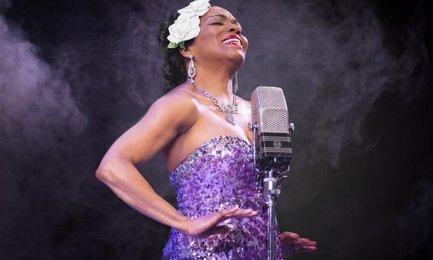 Dee Dee Bridgewater as Billie Holiday in 'Lady Day' at the Little Shubert Theatre
