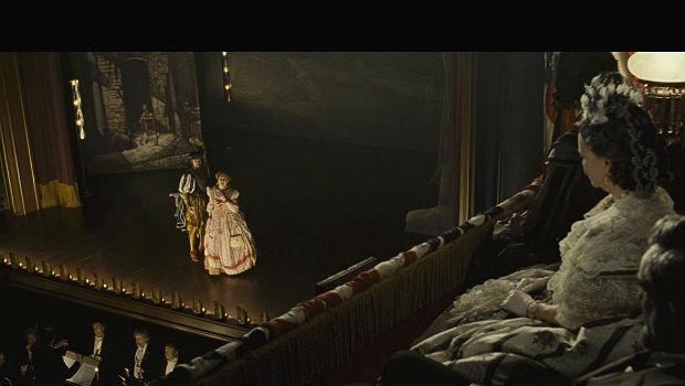 The First Couple watches 'Faust' in a scene in 'Lincoln'