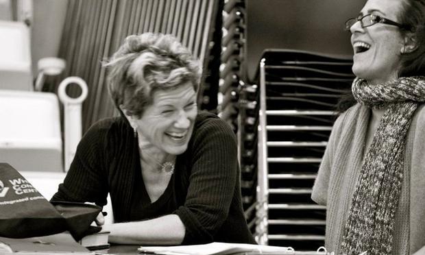 Lisa Kron with Jeanine Tesori, her collaborator on 'Fun Home.'