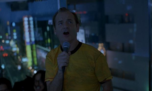 Bill Murray, doing his hilarious, and boozy rendition of '(What's So Funny 'Bout) Peace, Love, and Understanding' in the film 'Lost In Translation.'