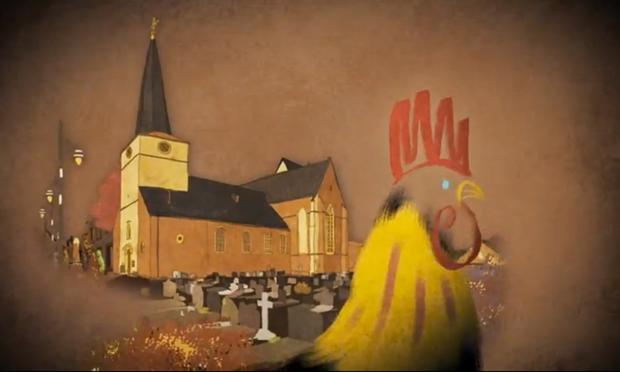 A scene from the short film 'Marcel, King Of Tervuren' by Tom Schroeder.