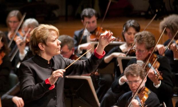 Marin Alsop is the music director of both the Baltimore Symphony Orchestra and the São Paulo Symphony Orchestra.