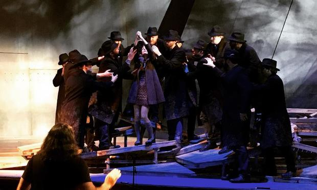Rehearsal of the New York premiere of Missy Mazzoli's opera 'Breaking the Waves'