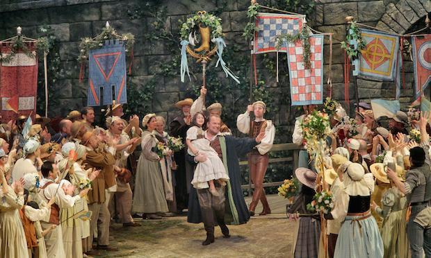 Michael Volle (center) as Hans Sachs in Wagner's 'Die Meistersinger von Nürnberg.'