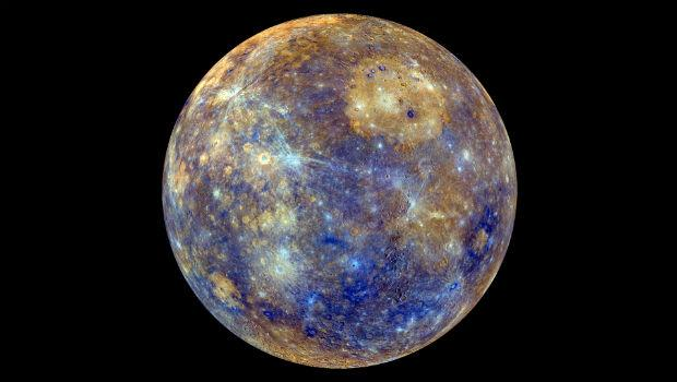 Mercury, as photographed by the Messenger probe