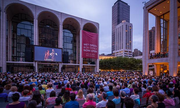 The Metropolitan Opera's 2012 Summer HD Festival on Lincoln Center Plaza.