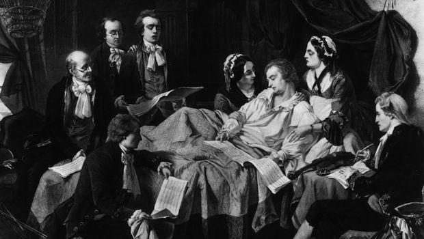 Mozart on his deathbed