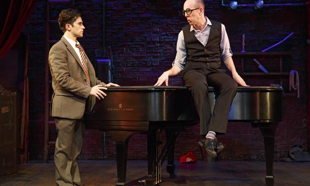 Brett Ryback and Jeff Blumenkrantz in 'Murder For Two' at at the McGinn/Cazale Theatre as part of Second Stage Theatre's Uptown series.