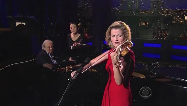 Anne-Sophie Mutter and Andre Previn on David Letterman