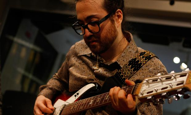 Sean Lennon performs with his new project Mystical Weapons in the studio.