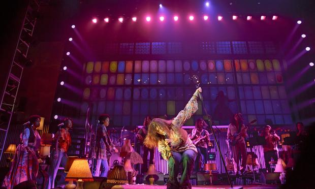 Mary Bridget Davies and cast in 'A Night With Janis Joplin' at the Lyceum Theatre.