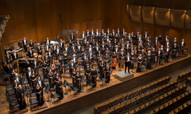 The New York Philharmonic and Music Director Alan Gilbert.