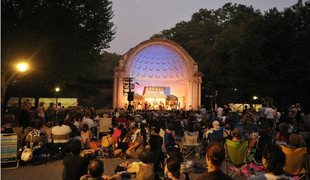 New York Grand Opera Company plays 'La Boheme' at the Naumberg Bandshell in 2011