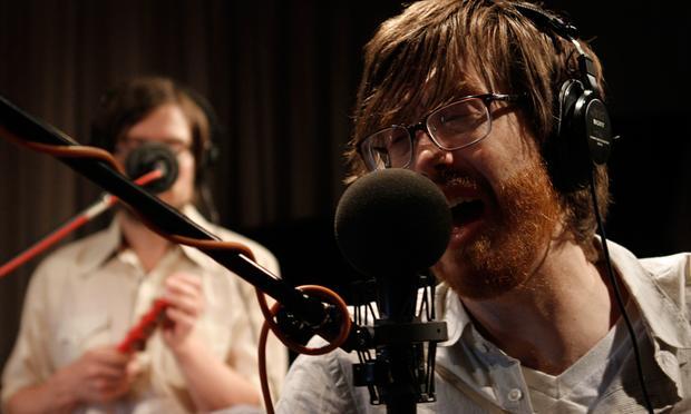Okkervil River performs in the Soundcheck studio.