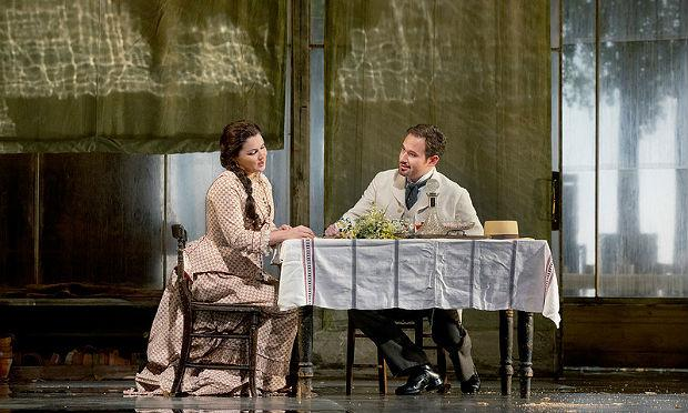 Anna Netrebko as Tatiana and Mariusz Kwiecien in the title role of 'Eugene Onegin'