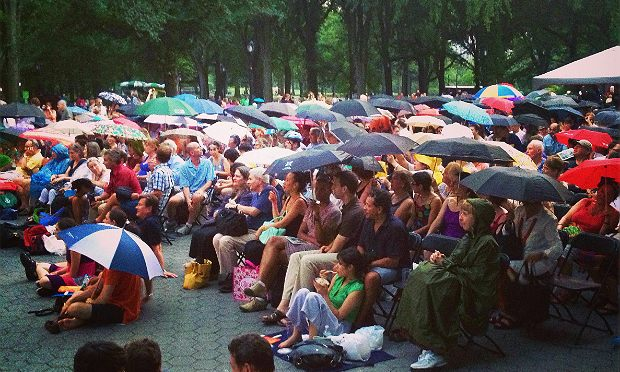 Audience for the Orpheus Chamber Orchestra at the Naumburg Bandshell in July 2013