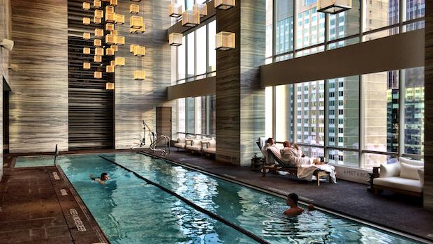 Park Hyatt Ny Hotel Pool Plays Underwater Classical Music
