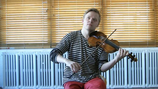 Pekka Kuusisto in the WQXR Cafe