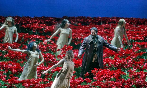 A scene from Act I of Borodin's 'Prince Igor' with Ildar Abdrazakov as Prince Igor Svyatoslavich