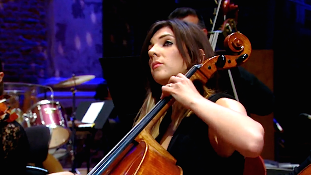 Rachel Lander, a cellist in the documentary 'Addicts Symphony'